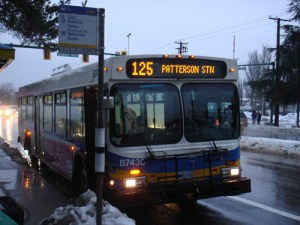 Our friend the #125 bus during the winter weather.