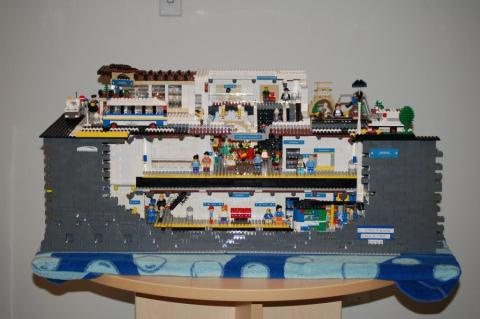 King Edward Station from the Canada Line, modeled in LEGO by Dan Emerson. Photo by Sandy Webster.