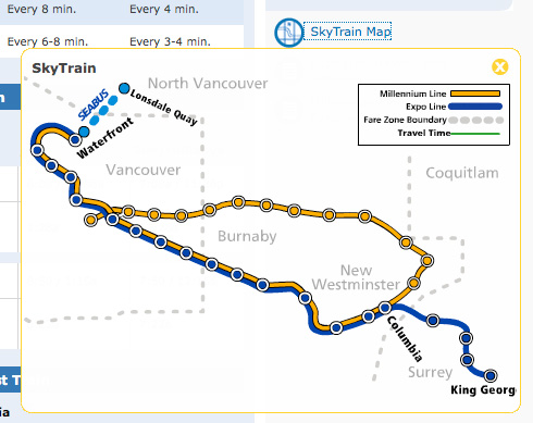 Translink Skytrain Map The Buzzer blog » The SkyTrain map is back up on the website
