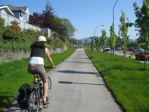A section of the Central Valley Greenway in New Westminster.
