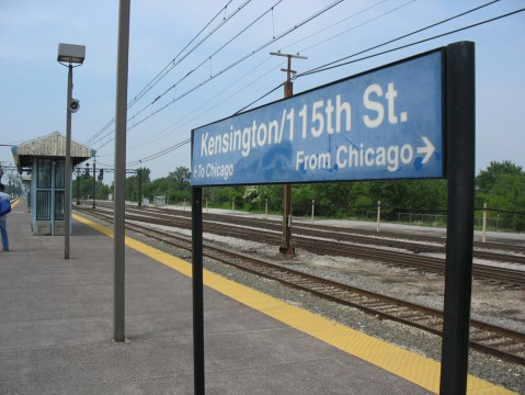Kensington Street Station on the Metra Electric line.