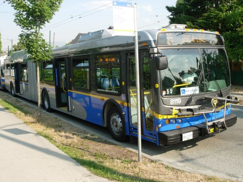 Hybrid articulated bus!