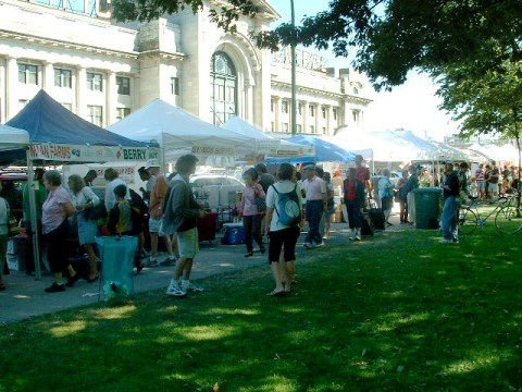 The Main Street Farmers Market in Thornton Park, near Main Street SkyTrain Station!