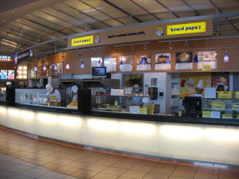 Beard Papa, in the Aberdeen Centre food court!