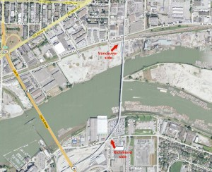 A map of the bridge location – click for a larger version.