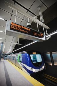 A Canada Line train!