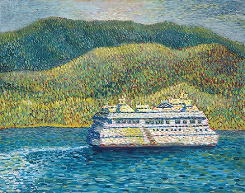 Ferry to Horseshoe Bay by Katrina Espetveidt.
