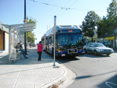 The installation of bus bulges created new sidewalk space, allowing us to install 25 new bus shelters along Main Street.