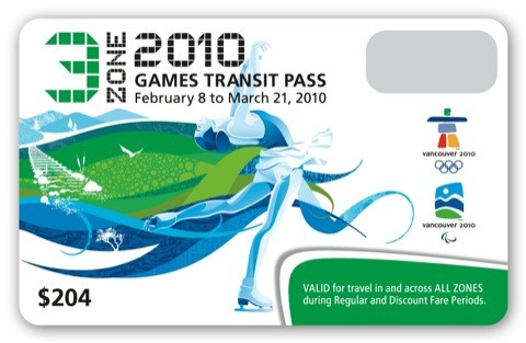 The 3-zone Olympic FareCard.