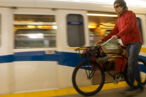 Sadly, you <b>cannot</b> take your bike on SkyTrain from Monday February 8 to Wednesday March 3.
