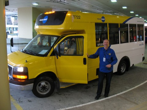 Dave the HandyDART driver at Metrotown bus loop!