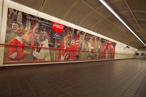 Coca-Cola ads in Granville Station
