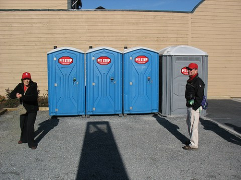 There are port-a-potties next to the station for those who need it!