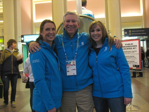 SkyTrain CEO Doug Kelseys wife and daughter even offered to help out with transit info and queue management!