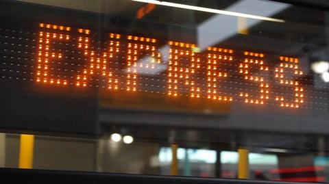 The Express display on a 99 B-Line. Go go B-Line go!