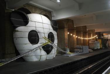 Life is a Laugh by Brian Griffiths, a large project at Gloucester Road. Photo from <a href=http://www.tfl.gov.uk/tfl/corporate/projectsandschemes/artmusicdesign/pfa/large-image-gallery.asp?galleryfolder=&gallery=lifeisalaugh&pic=3>Art on the Underground.</a>