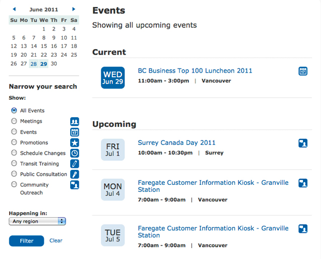 Events Calender