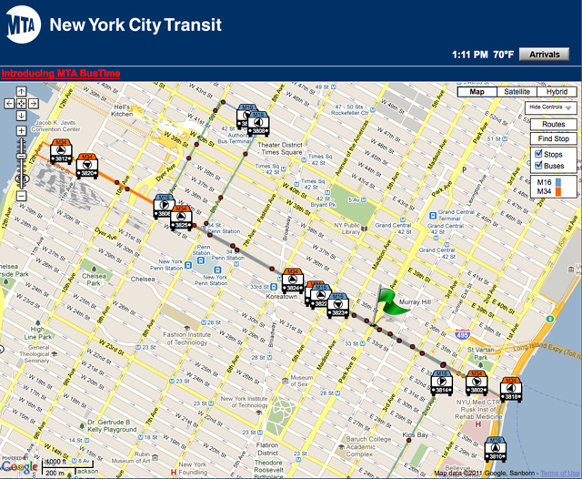 Route Finder for Metropolitan Transportation Authority's website