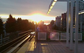 Joyce-Collingwood SkyTrain Station at dawn