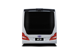The back of the BYD electric bus