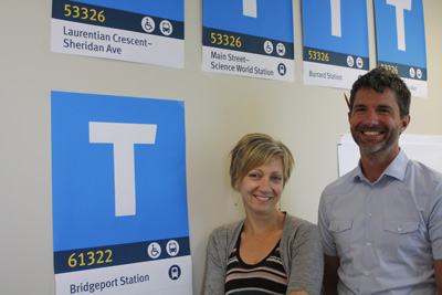 TransLink's Joanne Proft and Jeff Deby