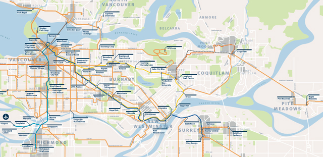 Translink Bus Stop Map The Buzzer blog » The Frequent Transit Network map