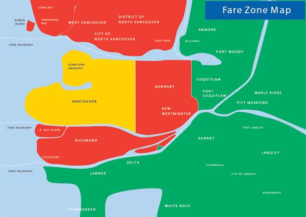 skytrain stations fare zones