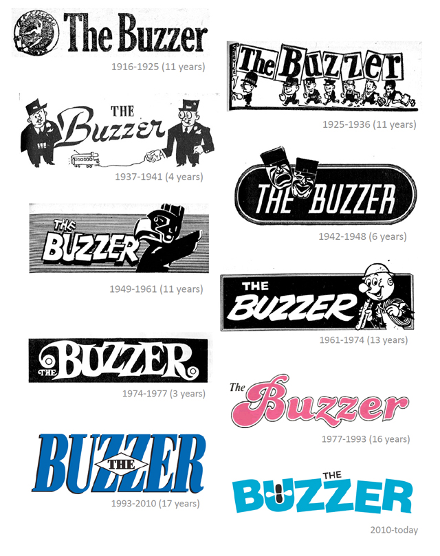 Buzzer logos through the years!