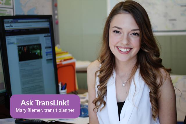 Mary Riemer, TransLink transit planner!