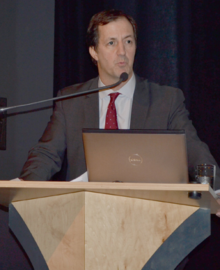 Andrew Coyne speaking at SFU Woodwards