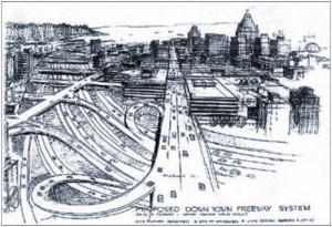 1960s Vancouver freeway proposal