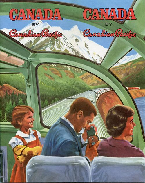 Canada by Canadian Pacific. A very colourful 1959 travel brochure promoting tourism by train. (via jakealoo)