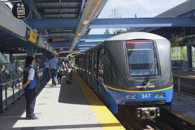 SkyTrain at VCC-Clark Station