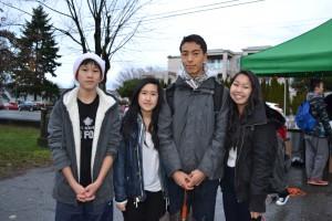 Kyle Hui - Grade 9, Arlene Nguyen - Grade 10, Frederick Heere - Grade 10 and Christine Tran - Grade 10
