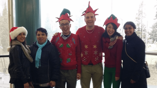 The TransLink Secret Santa Elves Allen, Robert and Jiana spread the holiday cheer!