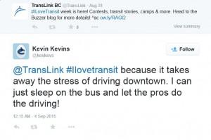 Kevin Kevins I Love Transit 2015 winner Twitter
