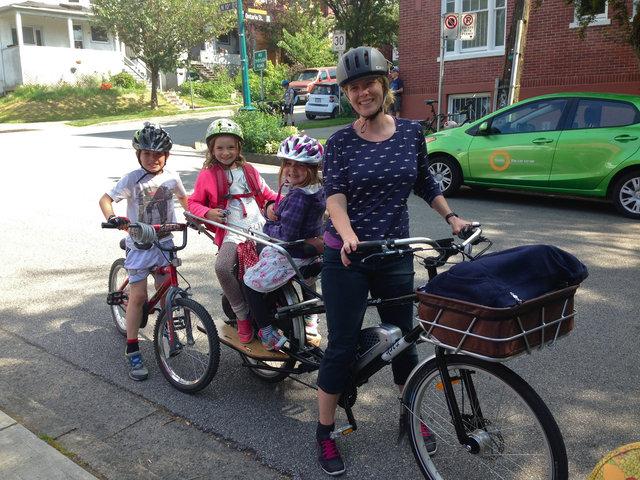 Bike to work week fall family