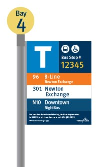 Digital rendering of a new bus stop sign