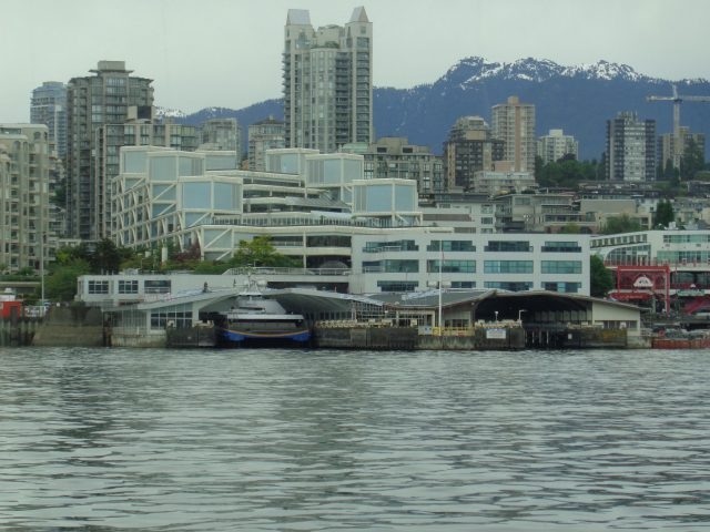 The wall and roof replacement at the north SeaBus terminal on the west berth.
