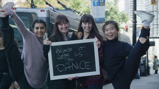 These students from SFU's School of Contemporary Arts love transit because it gets them to dance!