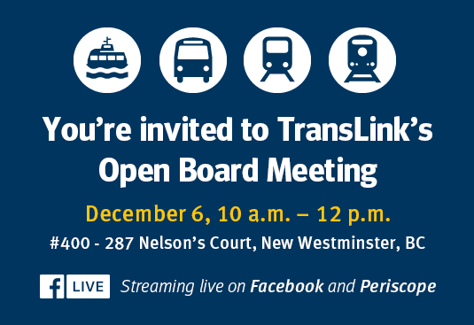 TransLink Open Board Meeting