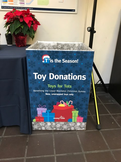 Toys for Tots Donation Bin
