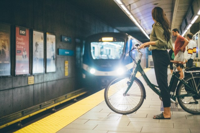 Bike on SkyTrain