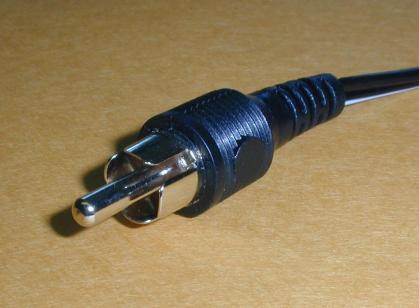 RCA plug closeup