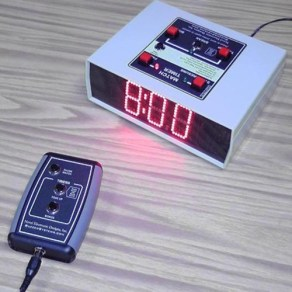 Quiz lockout game timer for Science Bowl bright digits remote control