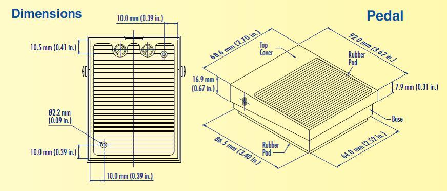 quiz slap pad dimensions mounting screws