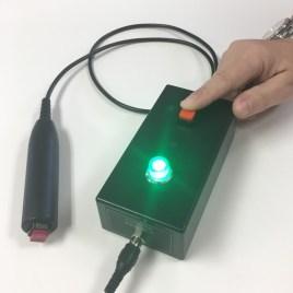 quiz box button press green light ECM400