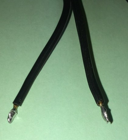 zip cord terminated leads 18AWG