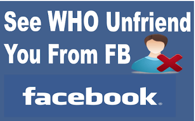 How to find out when someone unfriends you on Facebook
