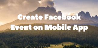 Create Facebook Event on Mobile App